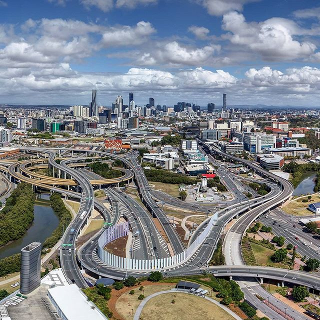 Looking south over the tollways towards Brisbane CBD. I think I've found my new passion ie #AerialPhotography #DJI #P4P #Phantom4Pro