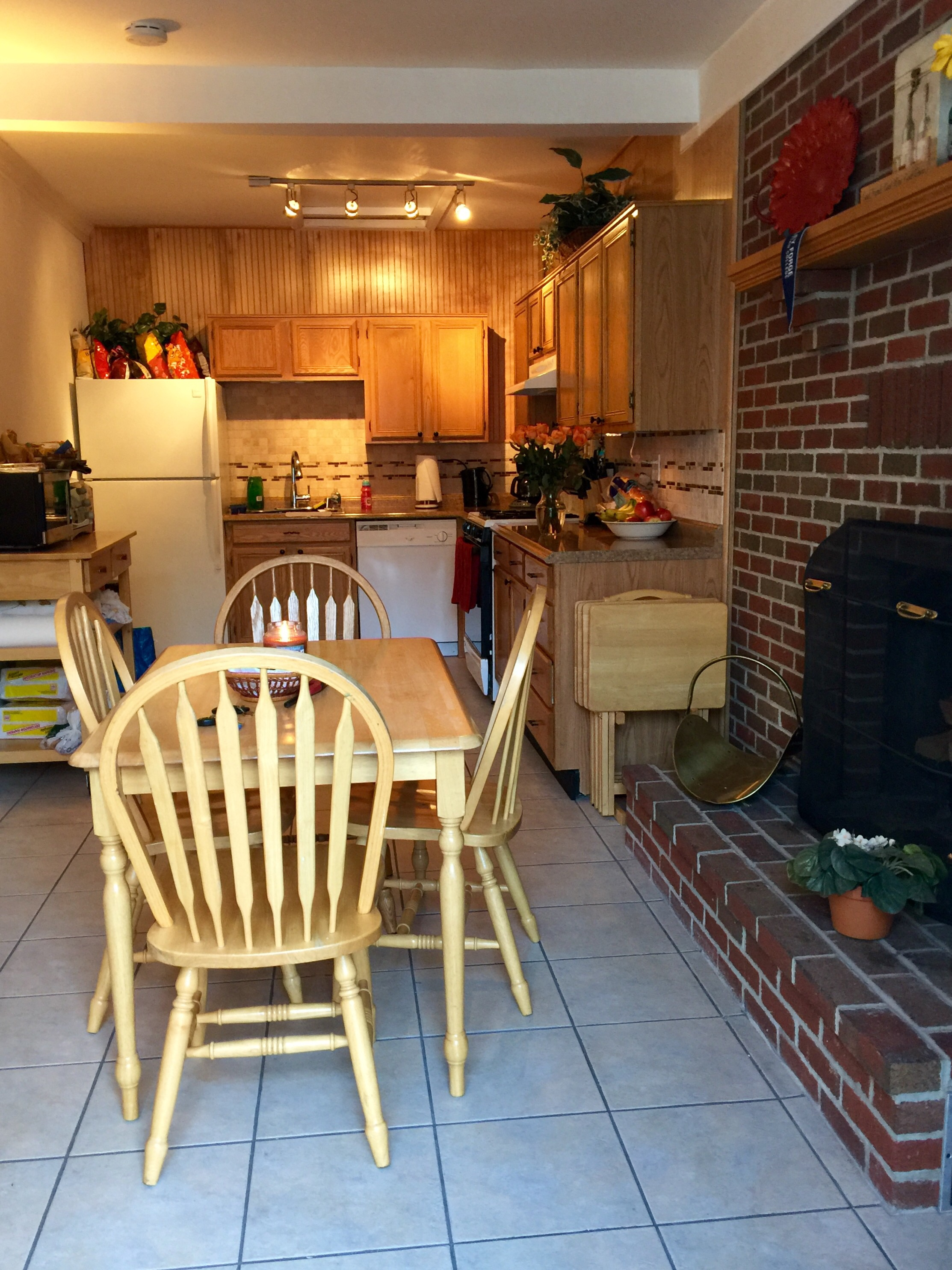 Our kitchen and dining space.