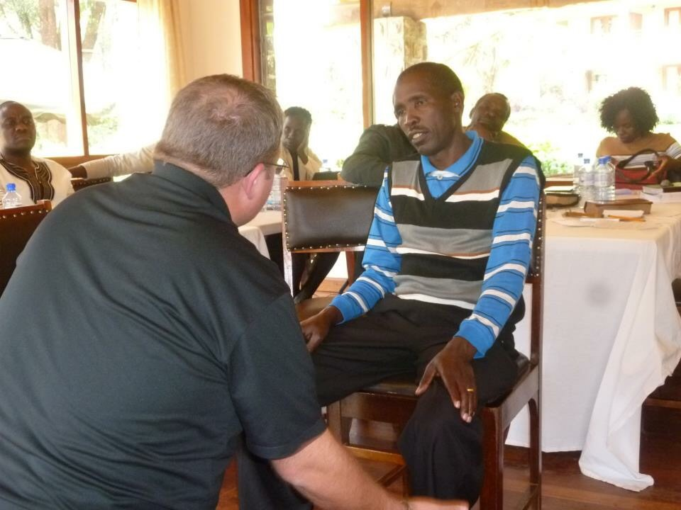 Teaching in Kenya on servant leadership...power under, not power over.
