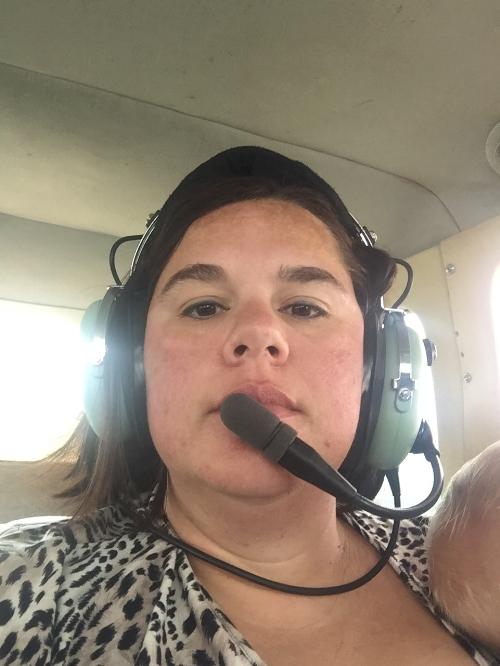 Tricia in the Plane.