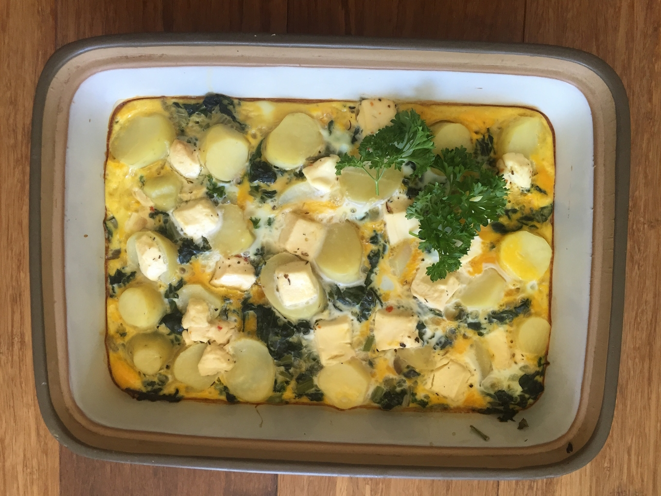 Cooked frittata, packed with veggies and perfect for any meal of the day!