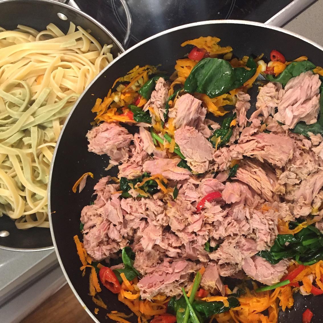 Super simple tuna pasta