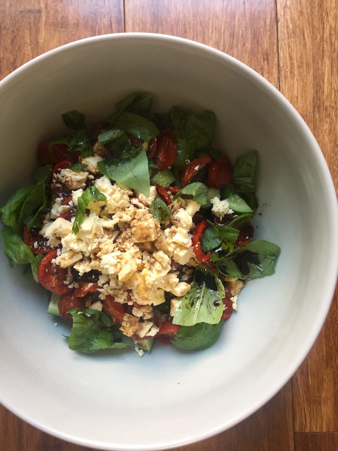 Delicious Greek-style salad