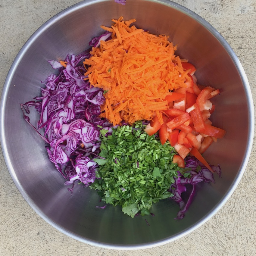 Shredded and grated vegetables