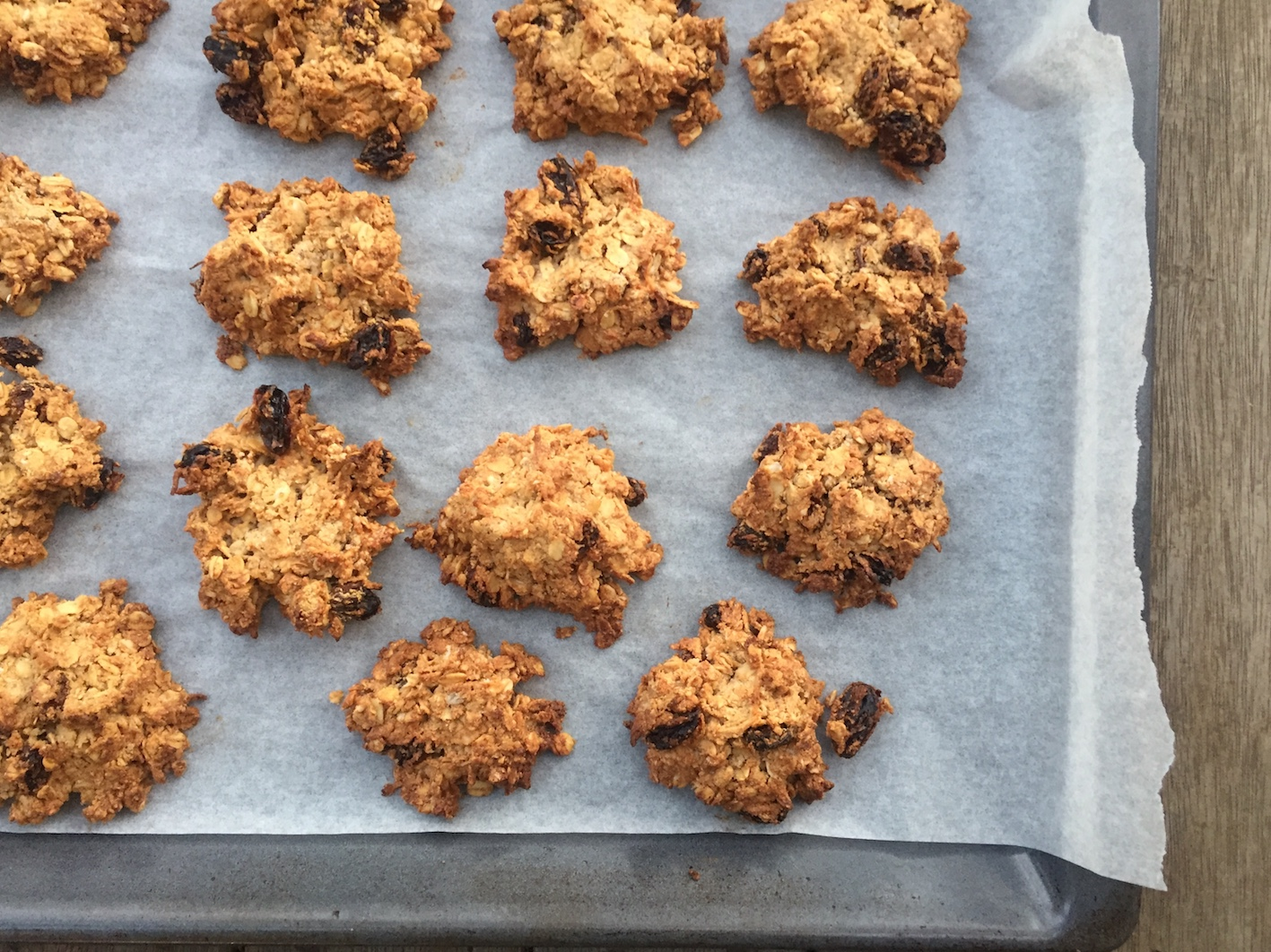 The finished product - deliciously satisfying nutty muesli cookies