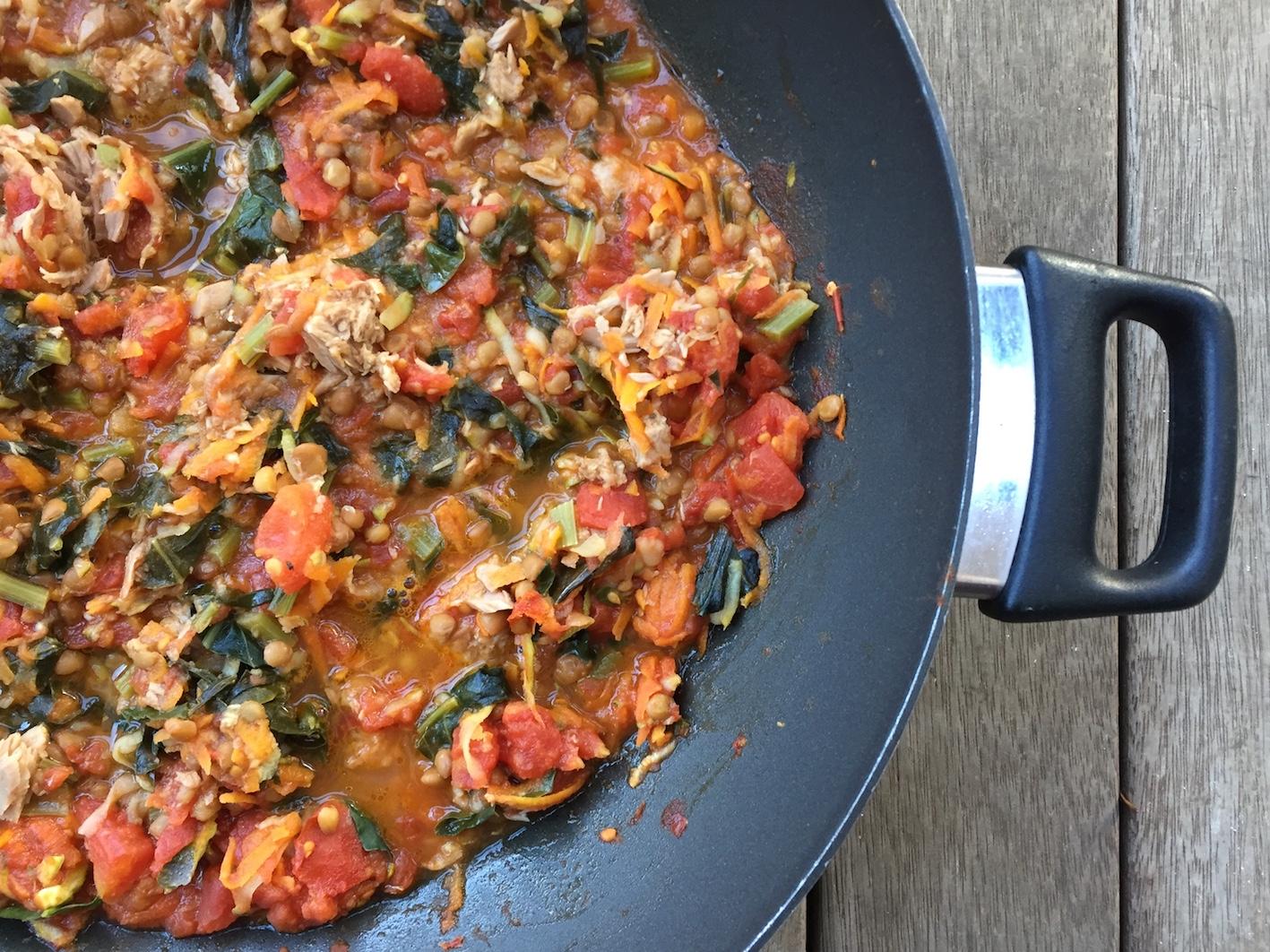 The pasta sauce
