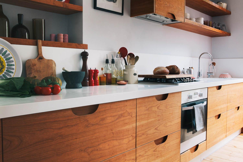 birch plywood design, veneered, drawers, bespoke kitchens, west and reid