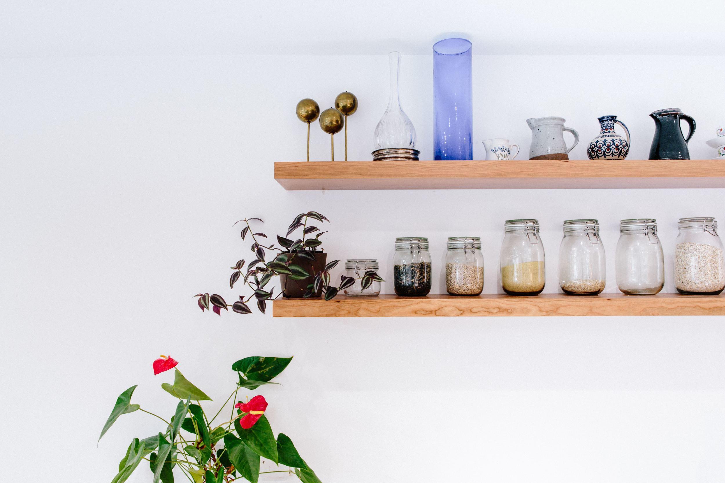 Kitchen Design Brixton Shelves - West & Reid