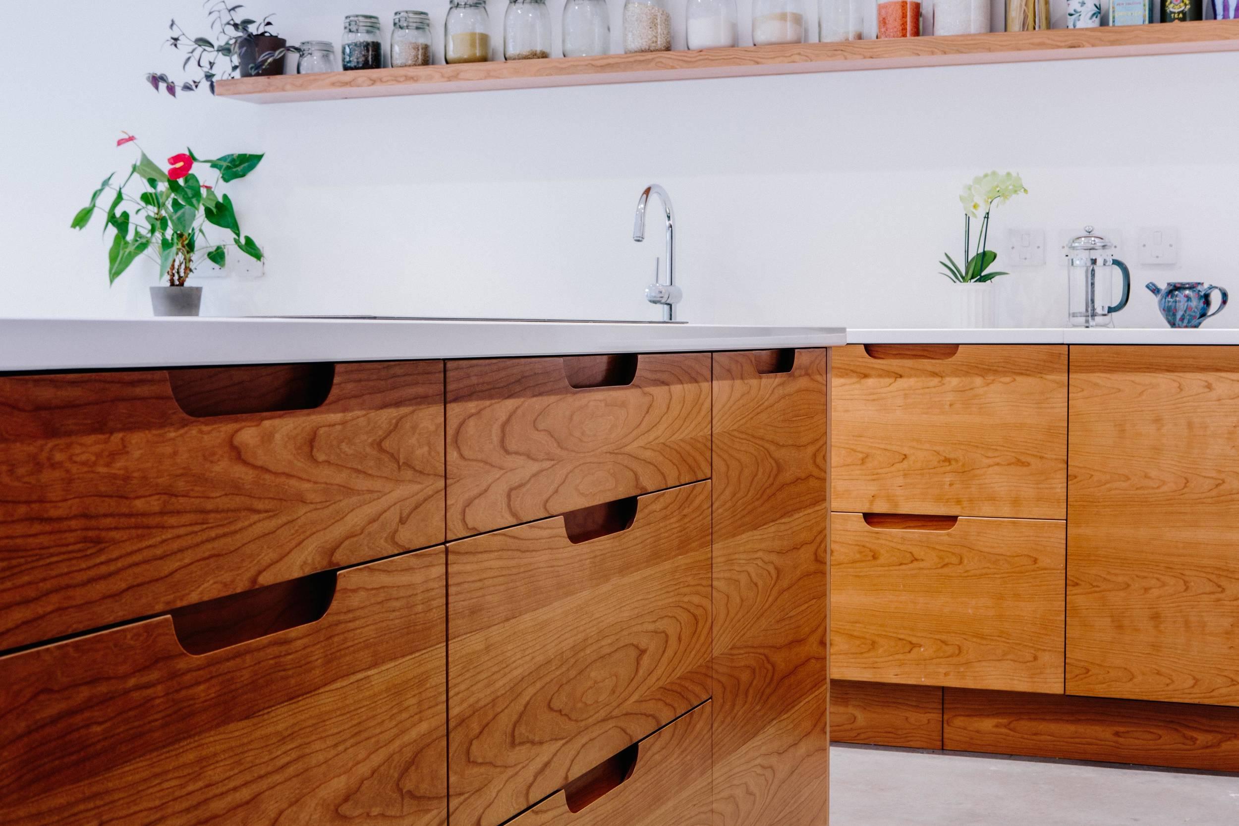 birch drawers, London, handmade, shaker kitchen, modern design, bespoke