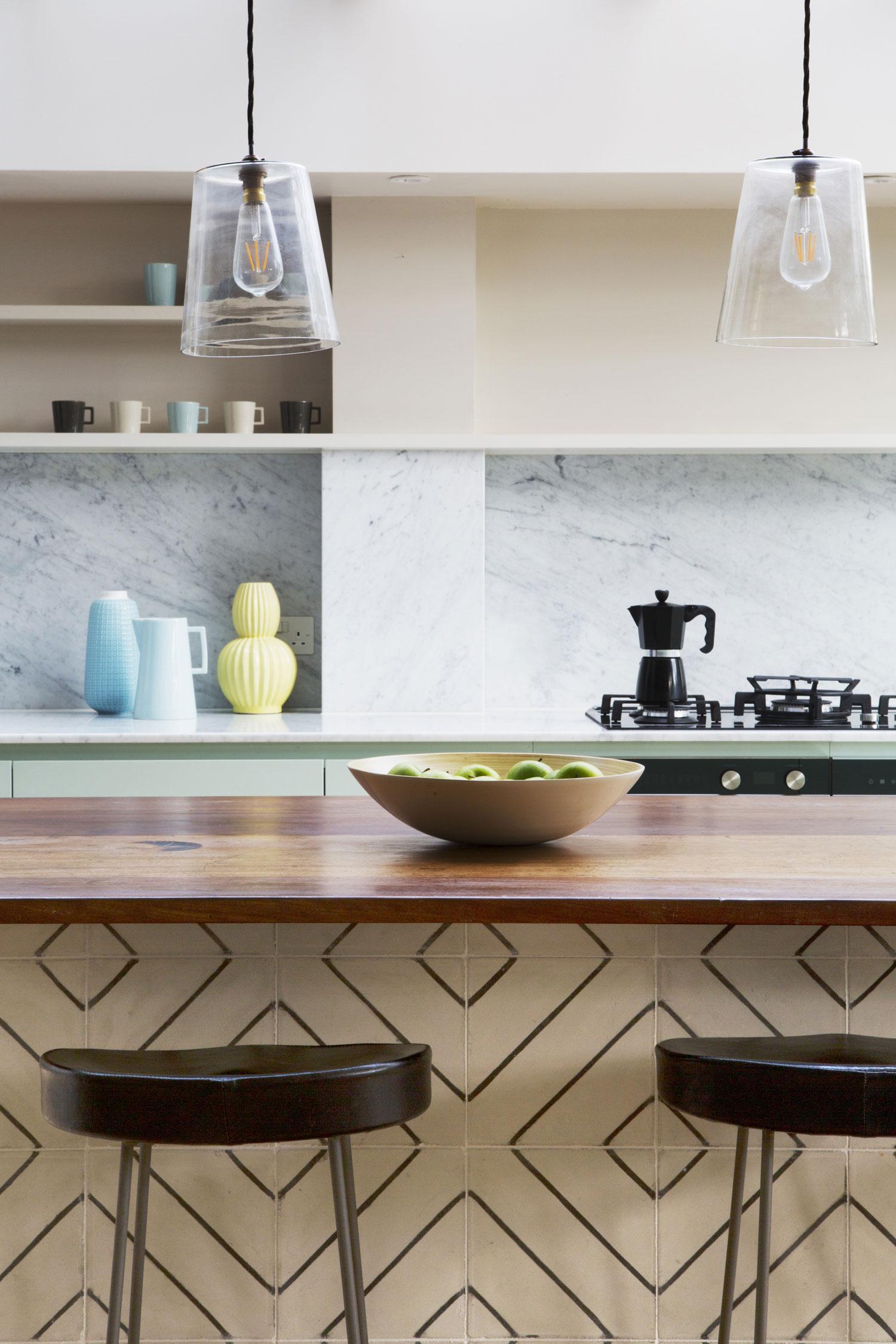 marble, tiles, chemistry worktop refit, stylish kitchen