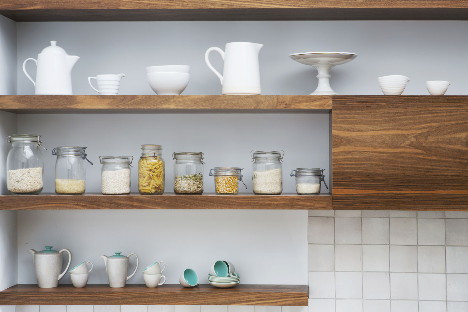 Kitchen Design Holloway Shelves - West & Reid