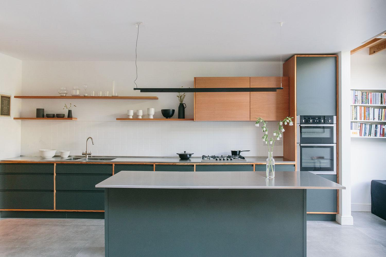 kitchen island, wood design, bespoke kitchen , shaker kitchen, london