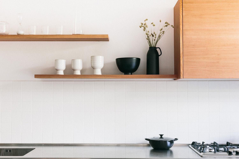 bespoke cupboards, handmade, kitchen design, minimalist, modern, shelves, work surface