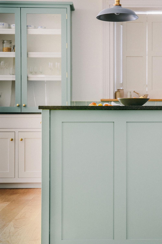 kitchen cupboards, handmade, duck egg blue, wood, london