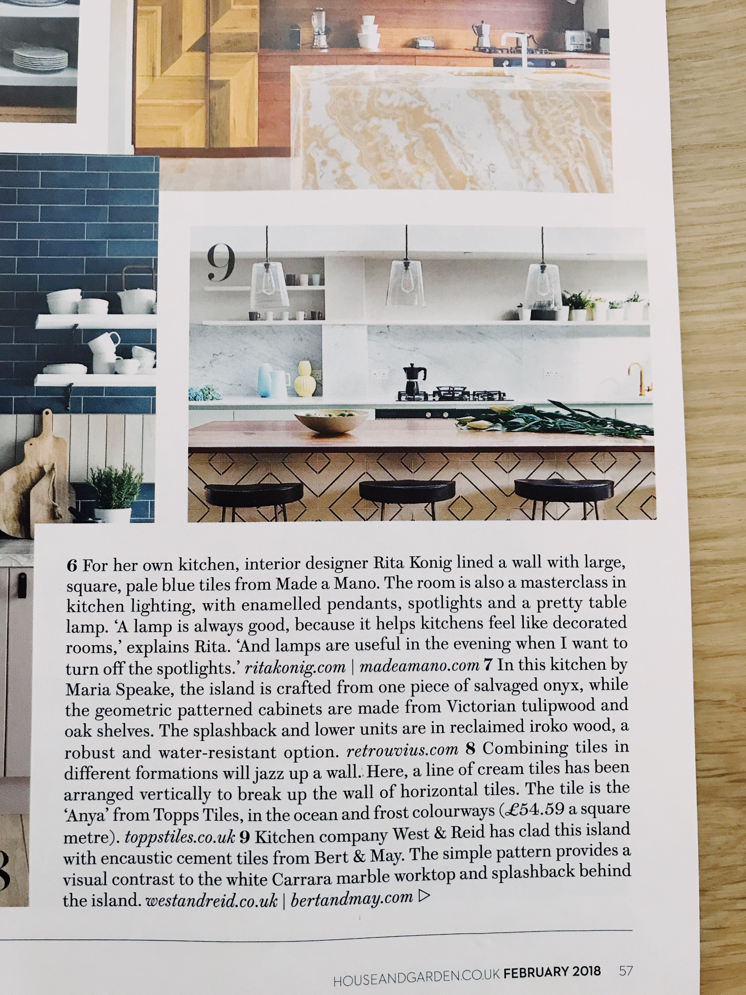 house and garden west and reid magazine feature