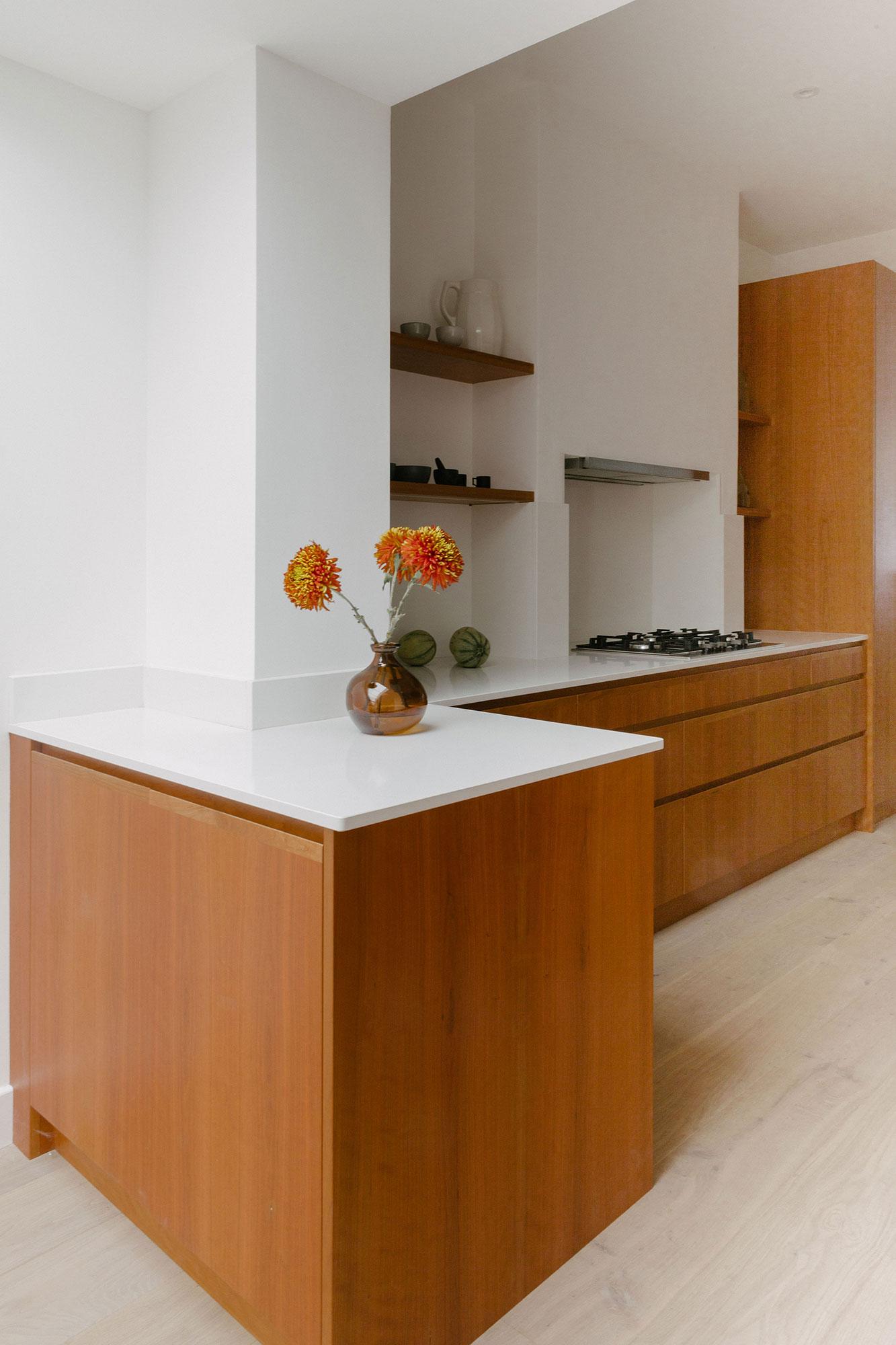 bespoke cherry veneer kitchen