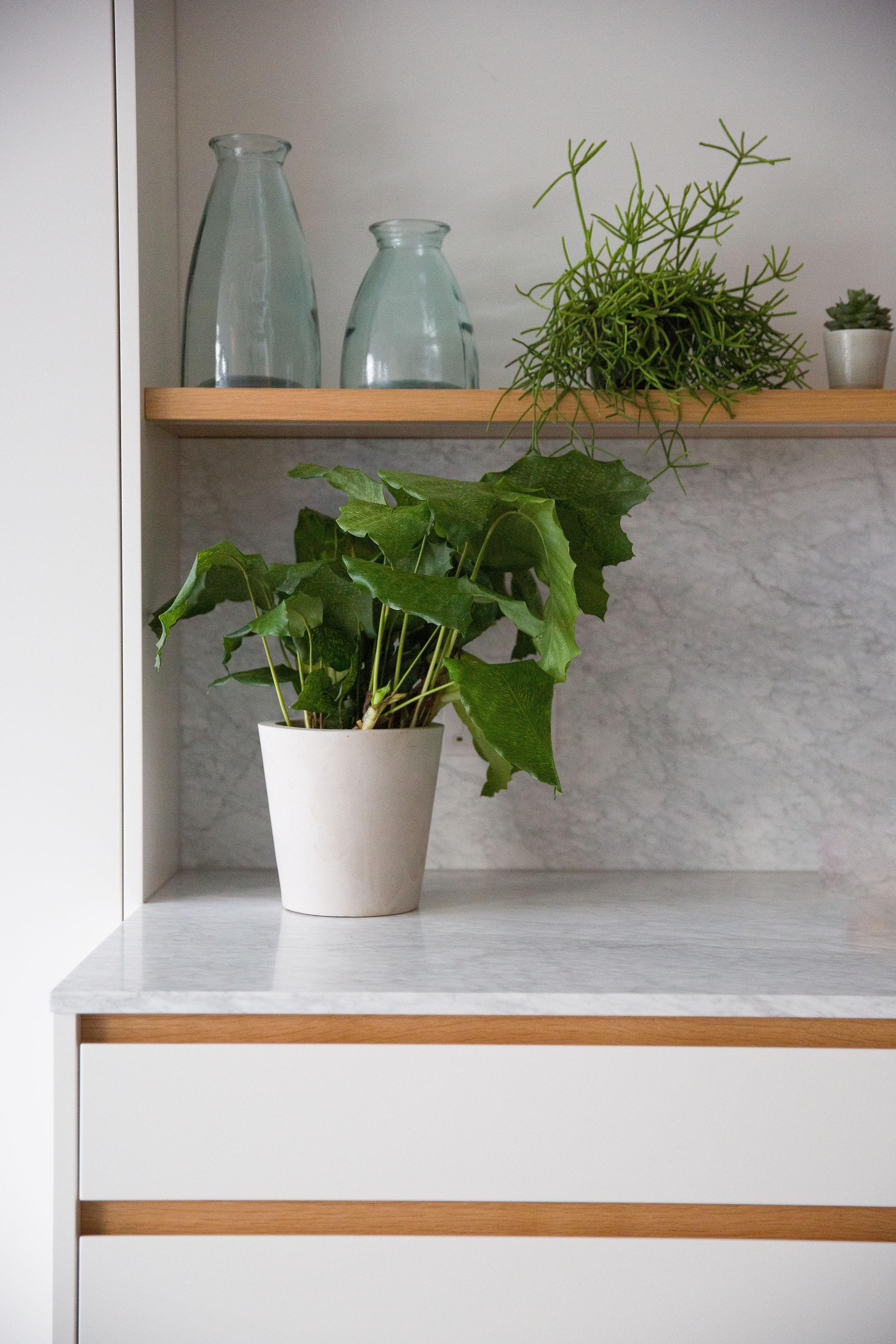 bespoke kitchen london white and oak doors
