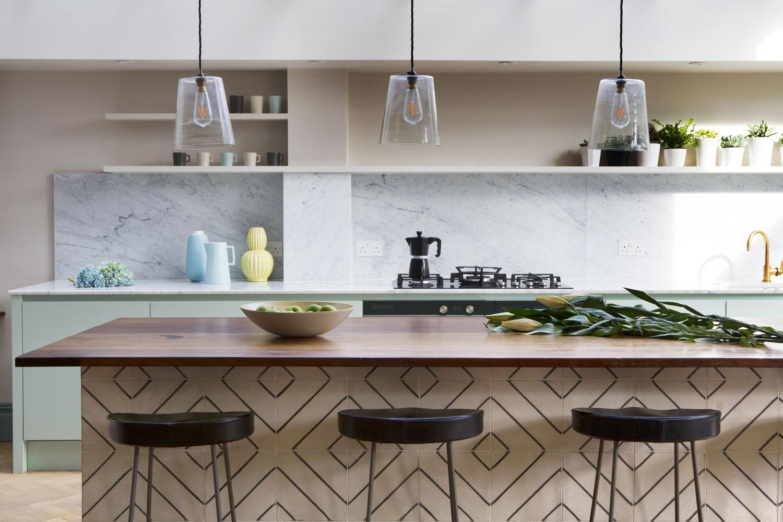 wood worktop bespoke kitchen