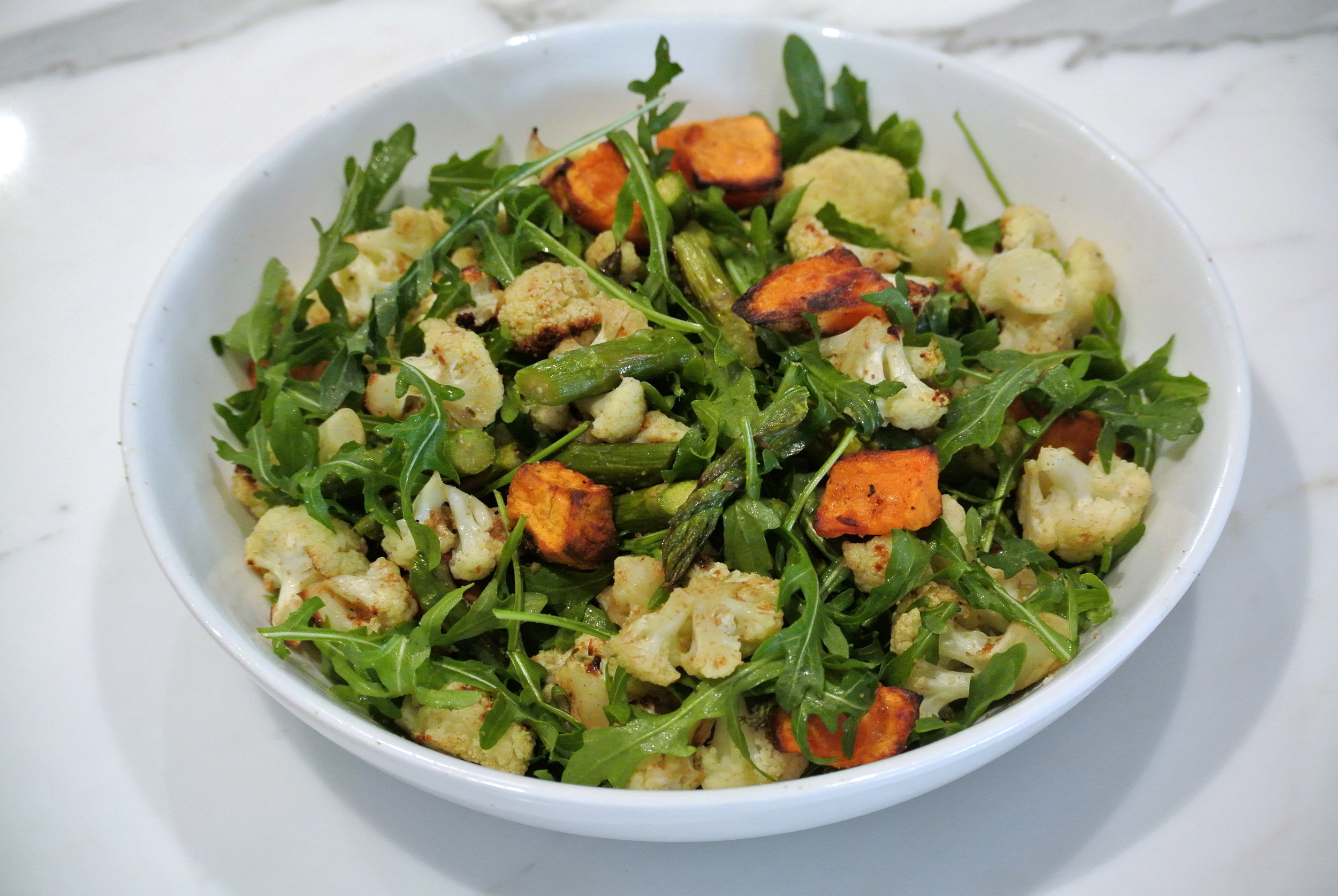 Cauliflower, Asparagus Salad.JPG