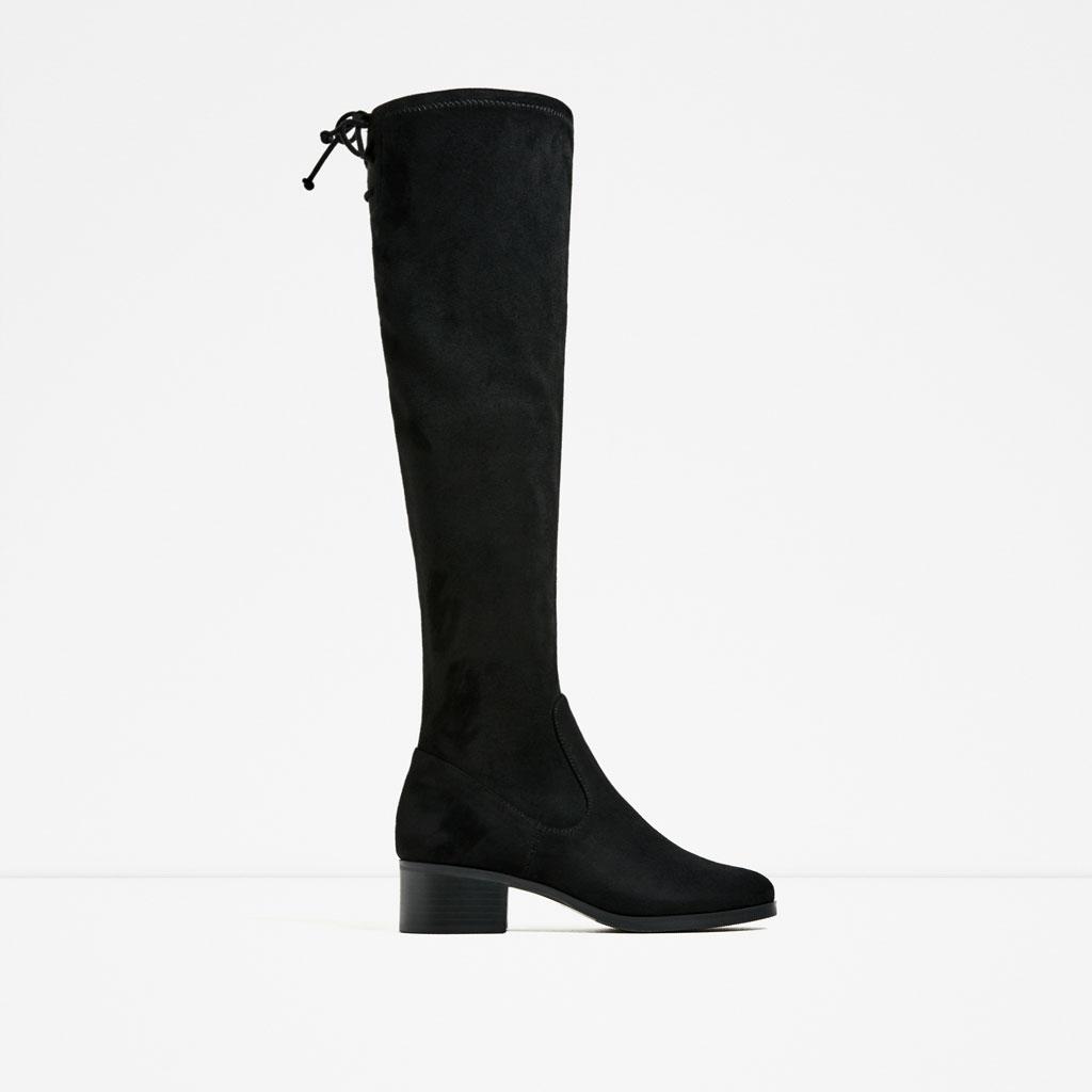 Zara Flat Over-the-Knee Boot