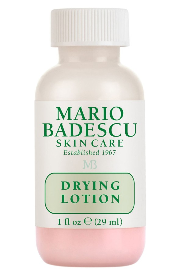 - Mario Badescu Drying LotionI have been using this drying lotion since college and swear by its ability to treat blemishes overnight. While the smell isn't the greatest, the combination of Salicylic Acid and Calamine heals and dries up blemishes fairly quickly. The pink color also allows you to apply it under makeup so you can treat blemishes throughout the day.