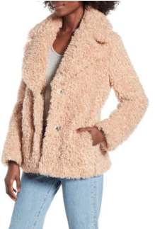 You guys went crazy over my teddy bear coat last year and this is almost identical and it's still in stock.
