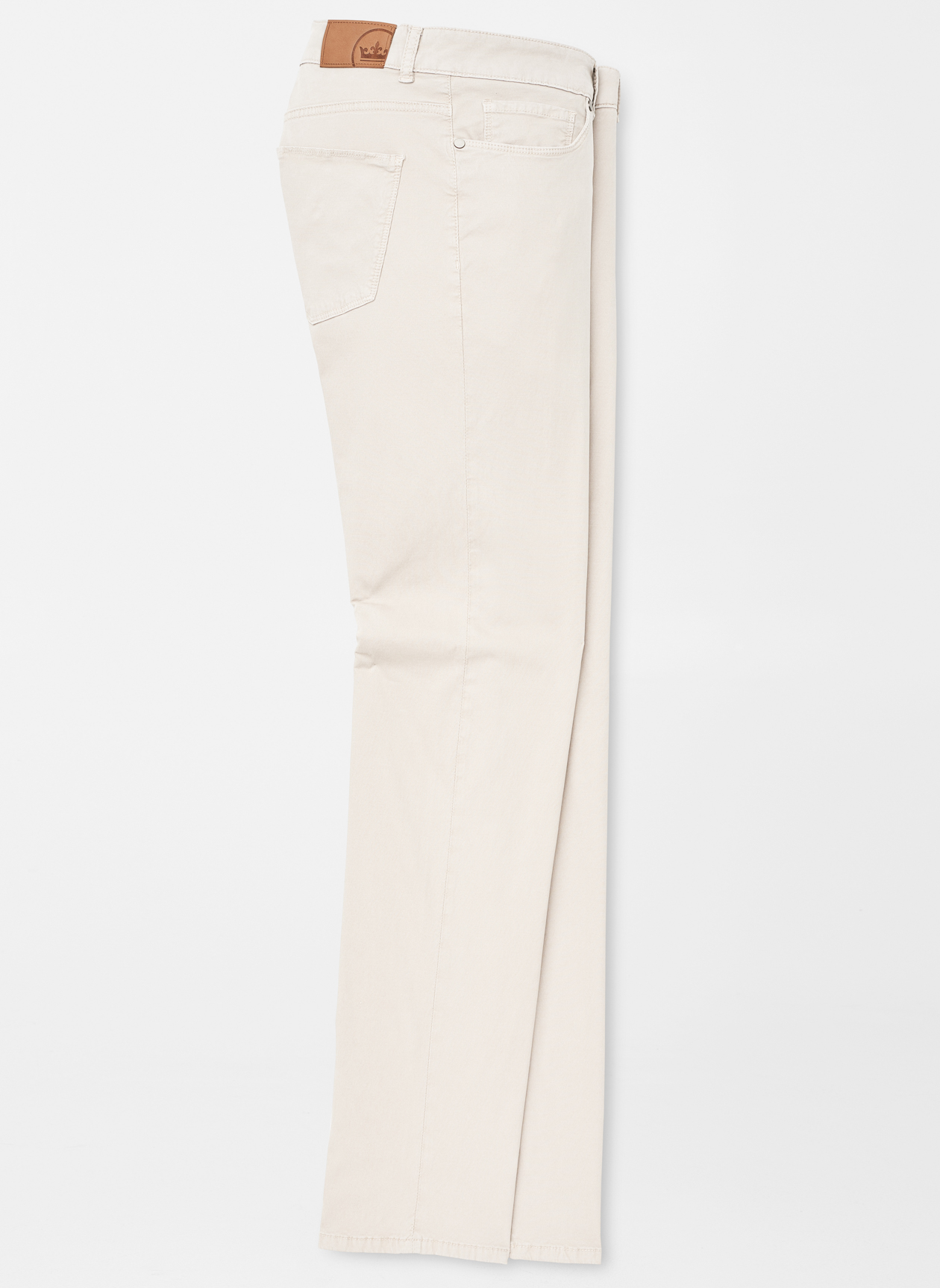 Peter Millar Wayfair Knit Five Pocket Pants in Stone