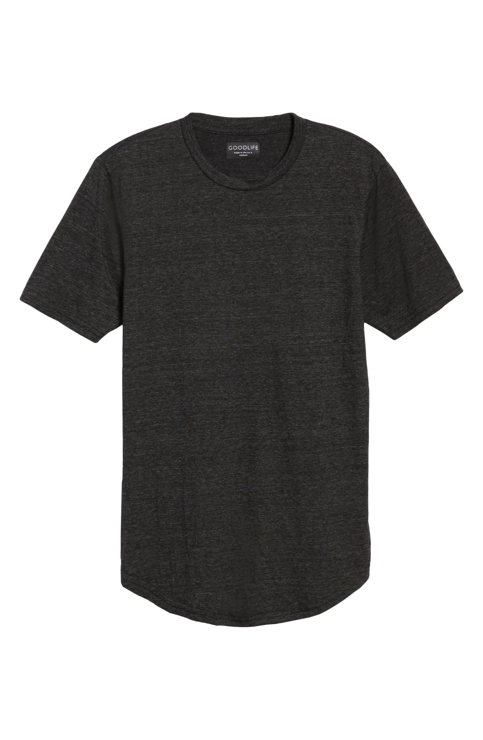 Scalloped Triblend Crewneck T-shirt