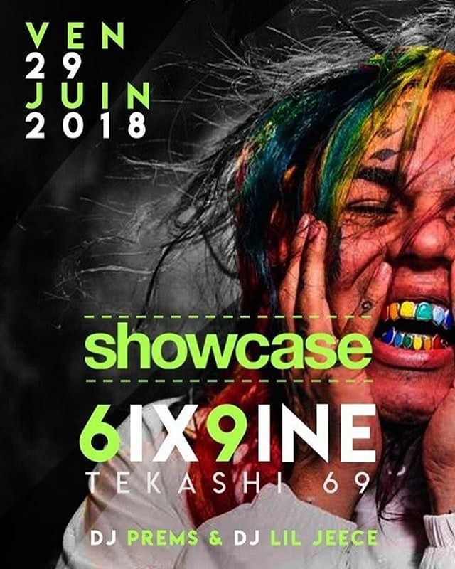 Our boy @djliljeece tonight with @djprems at @envogue_geneve for the @6ix9ine_ show case 🔥