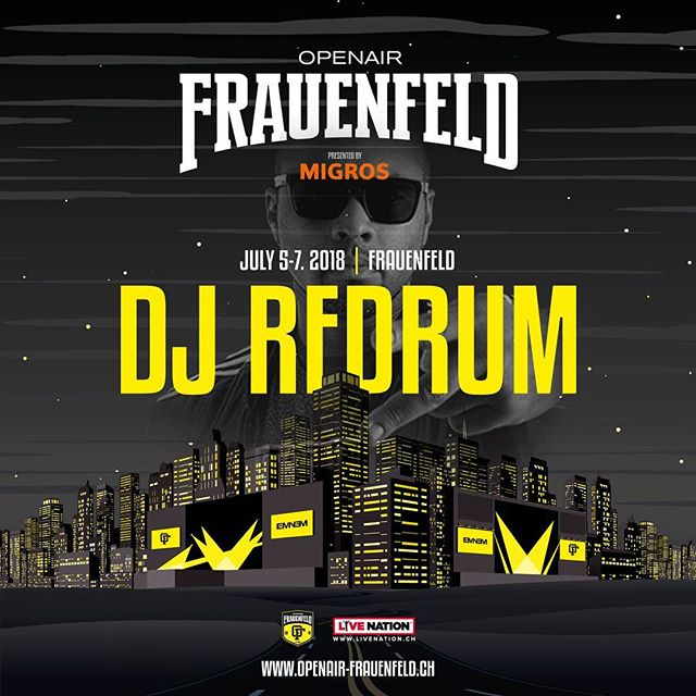 Catch our boy @deejayredrum at the @openairfrauenfeldofficial 🍾 -------------------------------------------- cc: @the24club @picassopunk -------------------------------------------- #picassopunk #the24club #djlife #dj #crewlove #hdr #graphic #hiphop #rap #rnb #party #nightlife #nightout #weekend #goodtimes #music #love #instagood #jam #photooftheday #repeat #goodmusic  #oaff #openairfrauenfeld #openair #summer18 #bacardidome #bacardi #restlezz
