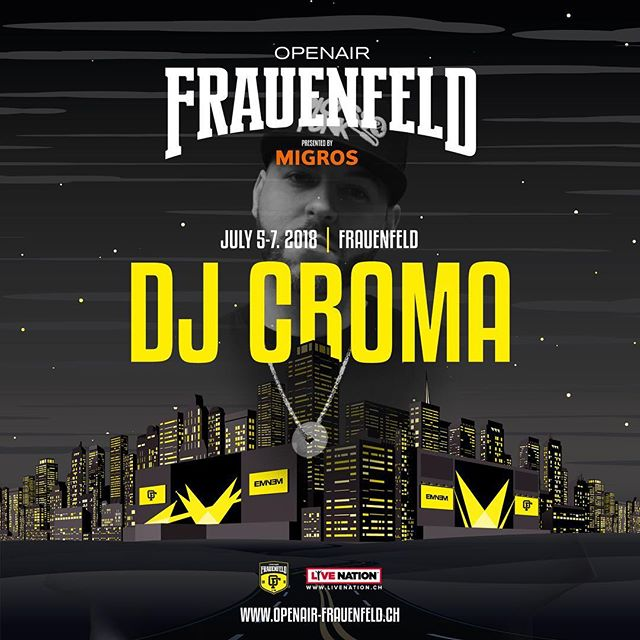 Catch our boy @dj_croma at the @openairfrauenfeldofficial 🍾 16:00-17:00 &18:30-20:00 at the bacardi stage 🥃  And 22:00-24:00 at the Soul City stage 💥 -------------------------------------------- cc: @the24club @picassopunk -------------------------------------------- #picassopunk #the24club #djlife #dj #crewlove #hdr #graphic #hiphop #rap #rnb #party #nightlife #nightout #weekend #goodtimes #music #love #instagood #jam #photooftheday #repeat #goodmusic  #oaff #openairfrauenfeld #openair #summer18 #bacardidome #bacardi #restlezz