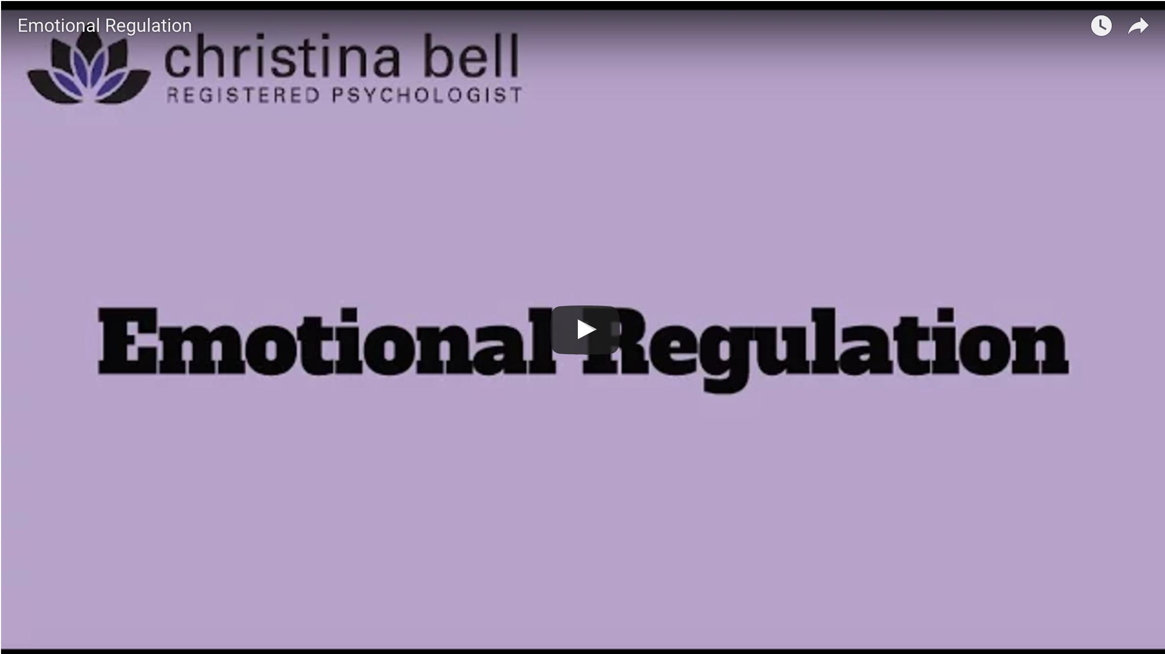 Christina bell - emotional regulation video