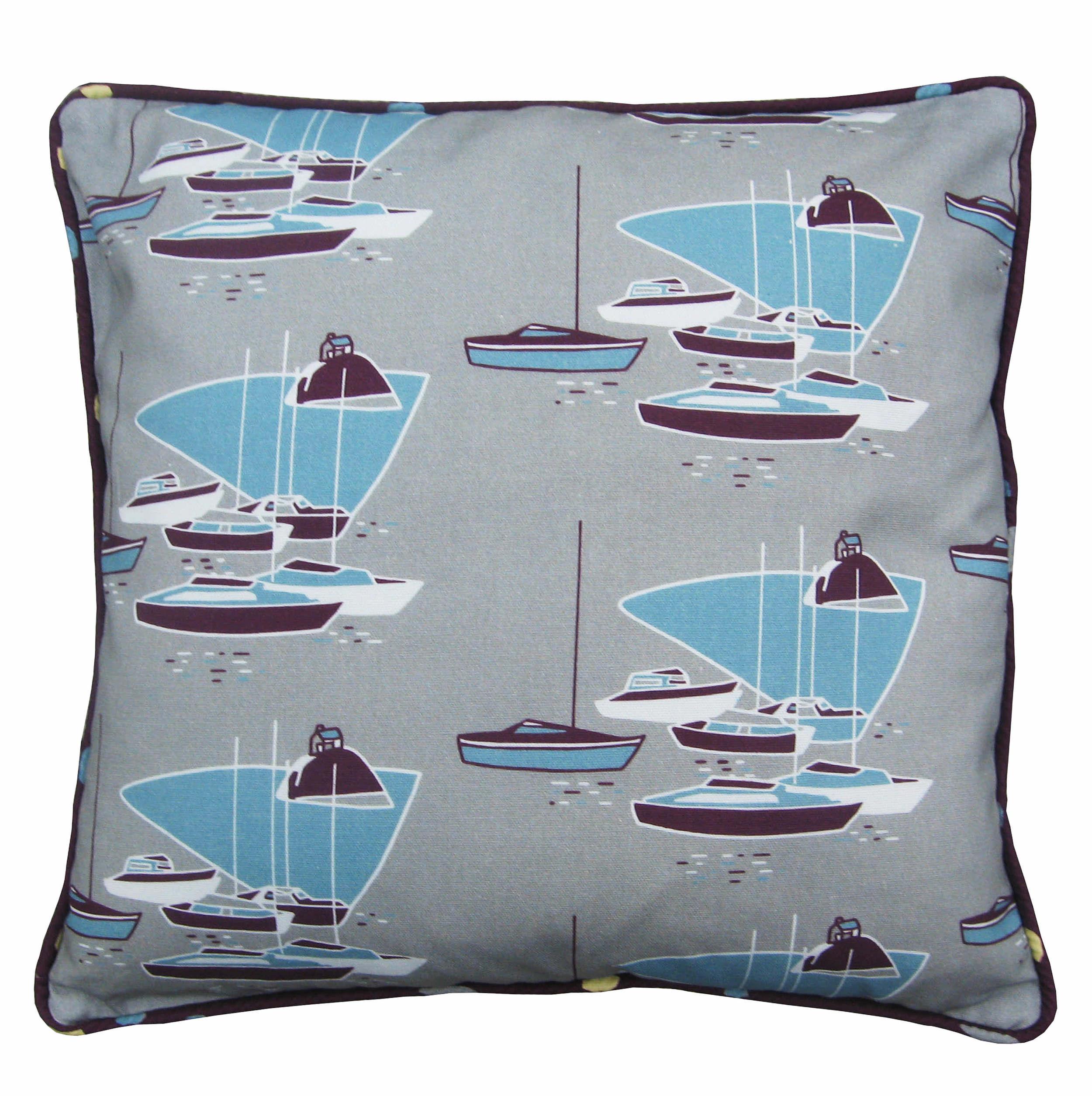 cushion in purple boats fabric.jpg