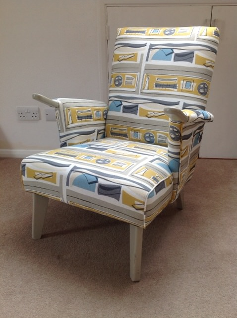 '50's chair in aerial view mustard fabric.jpg