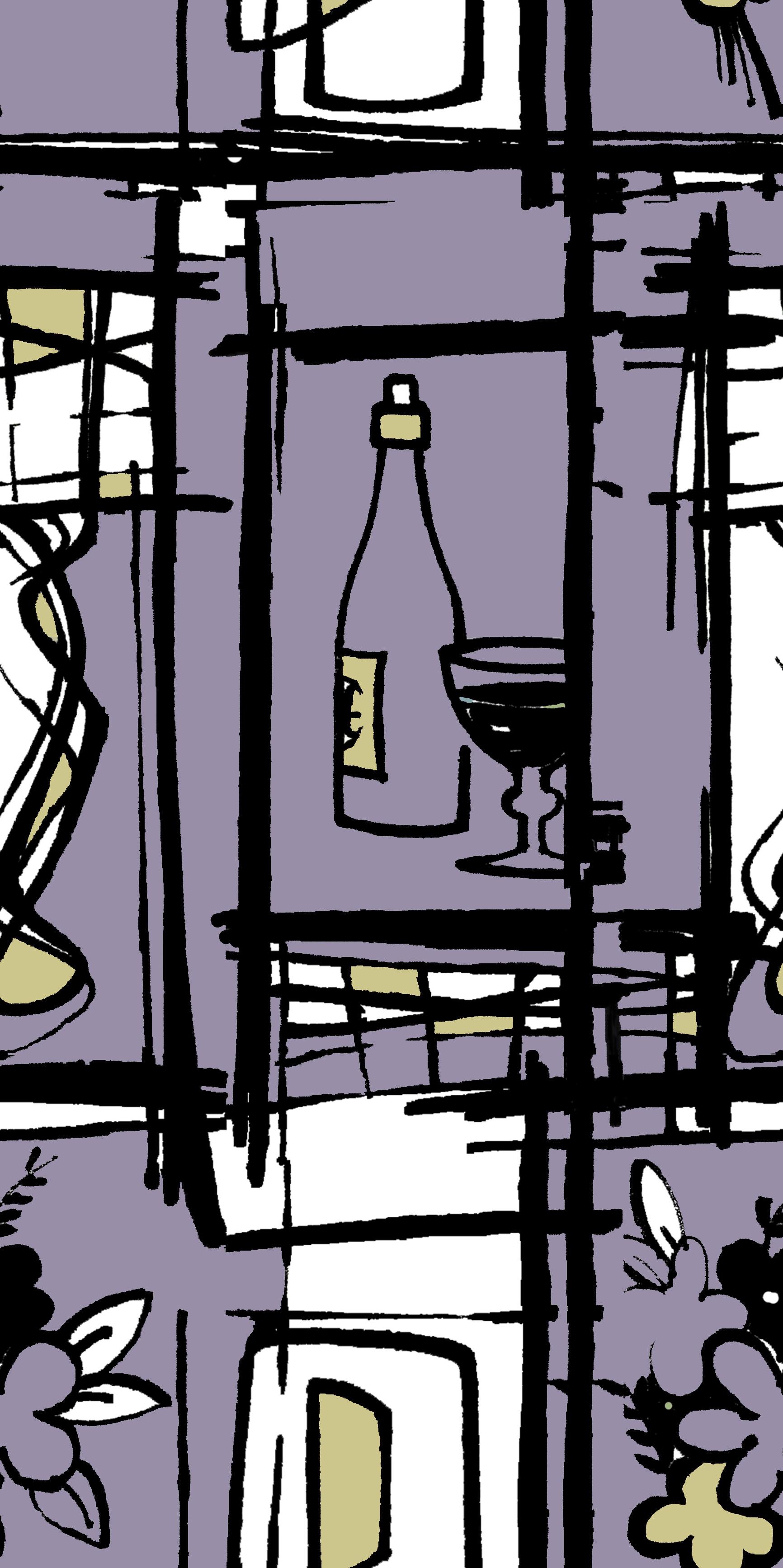 bottle and flowers design purple.jpg