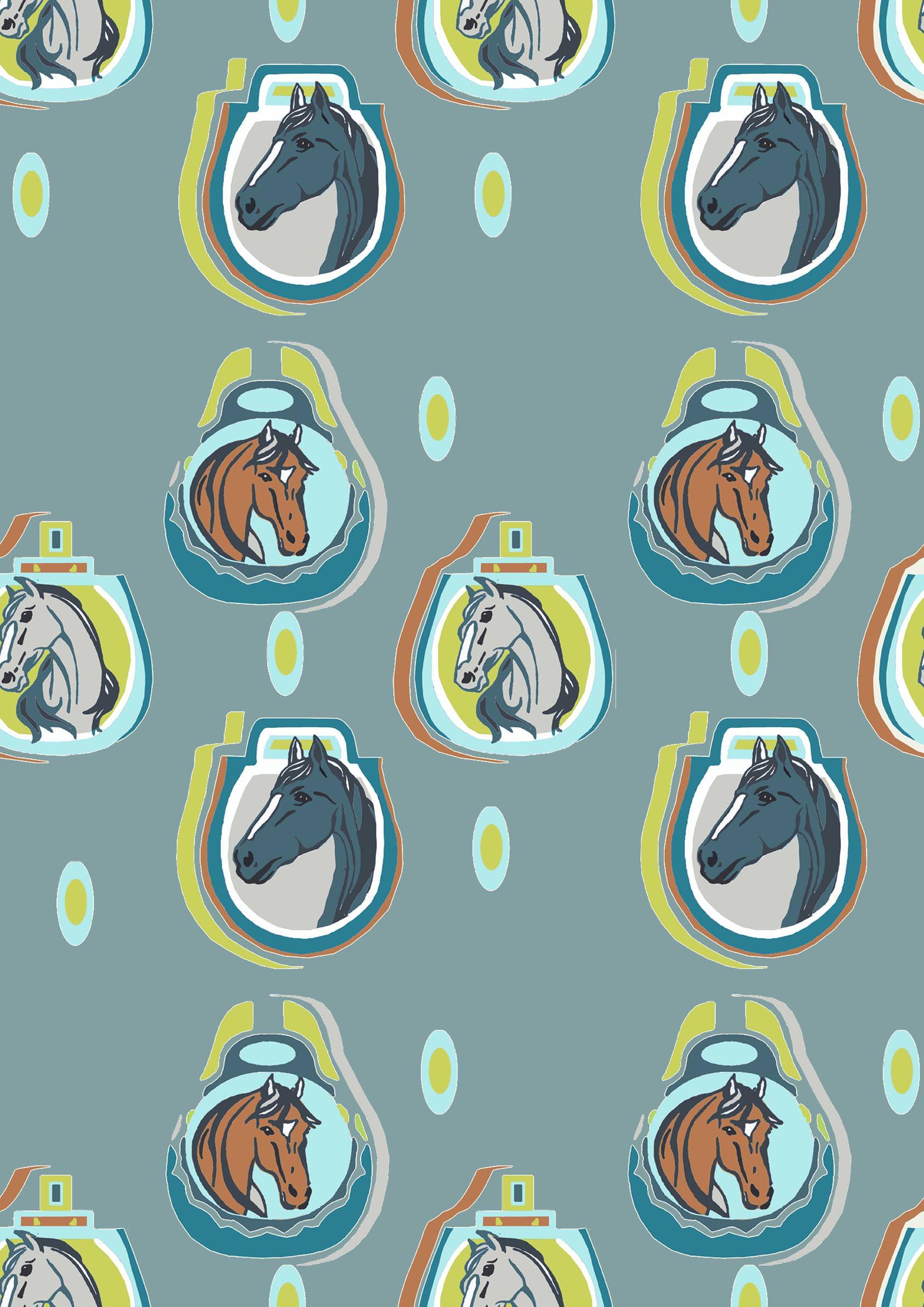 retro horses design teal.jpg