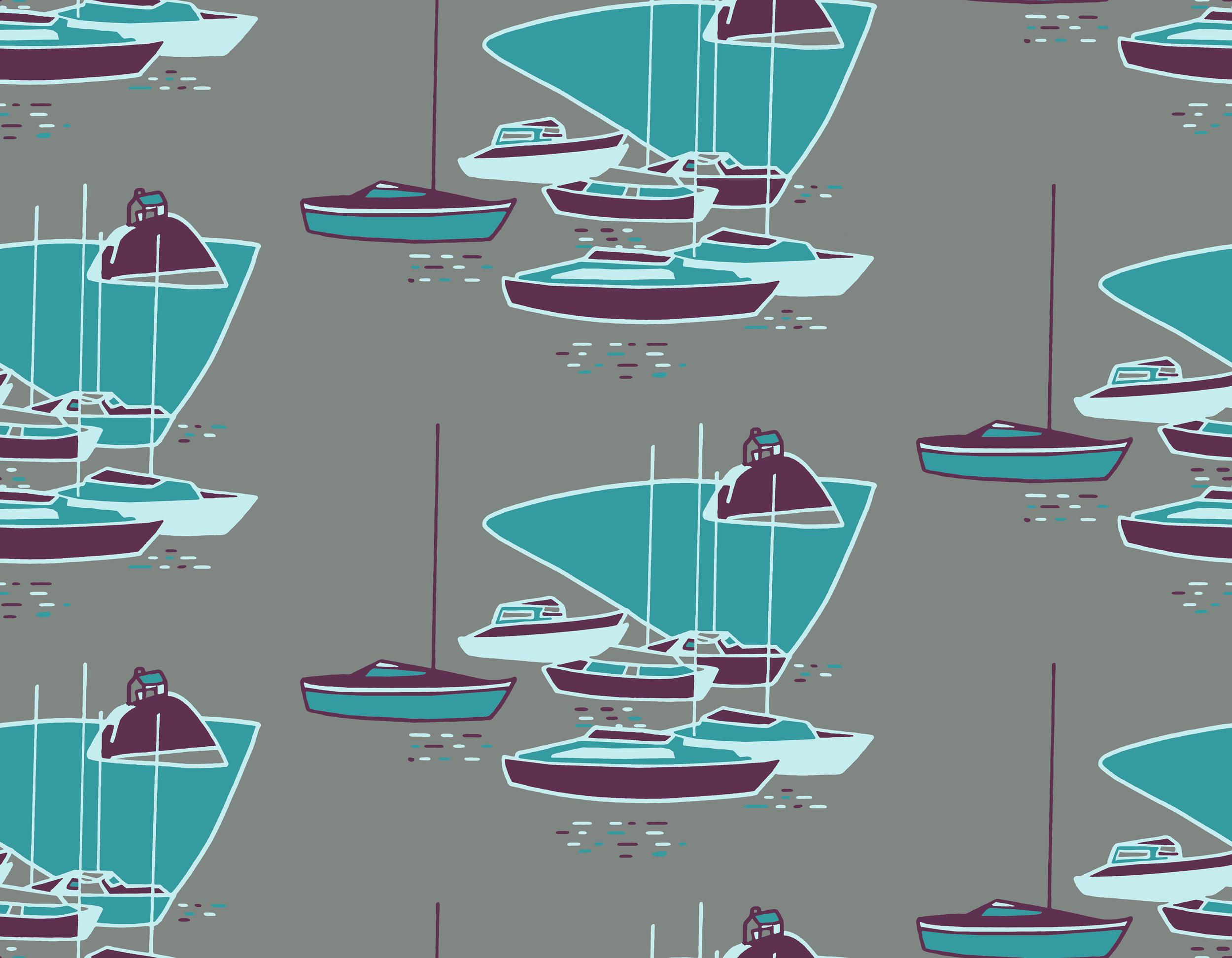 Boats design purple