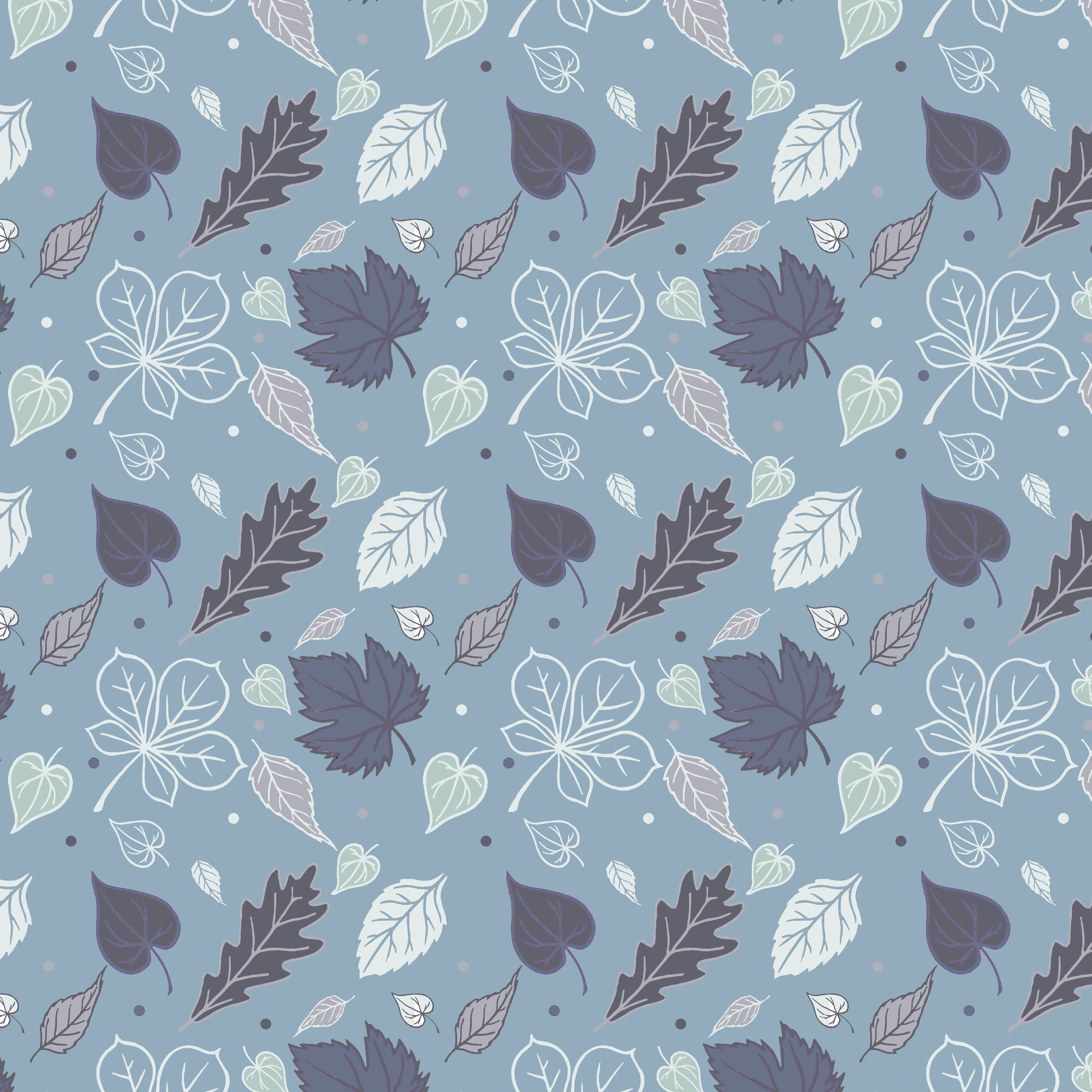 Leaf design blue