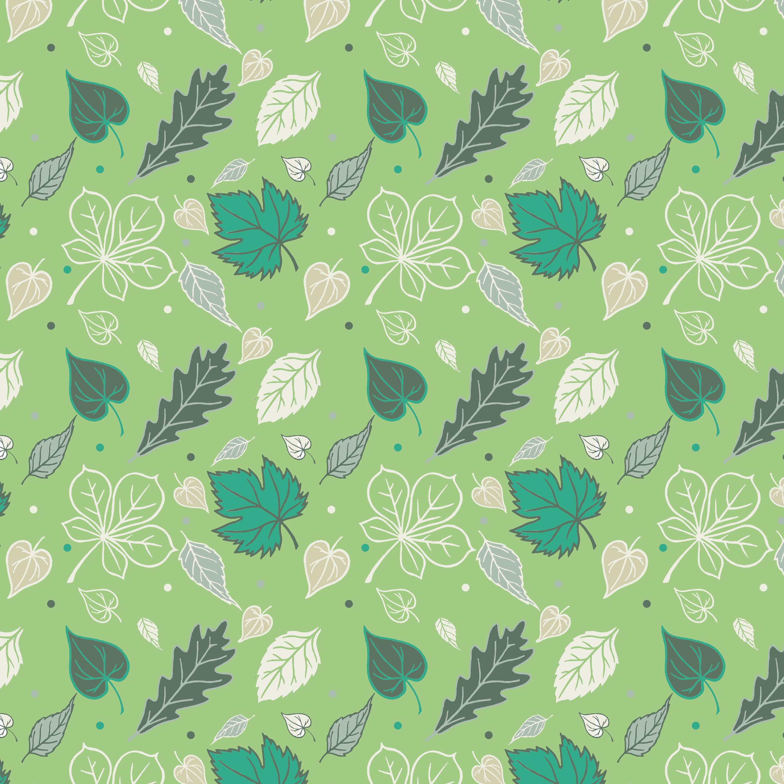 Leaf design green