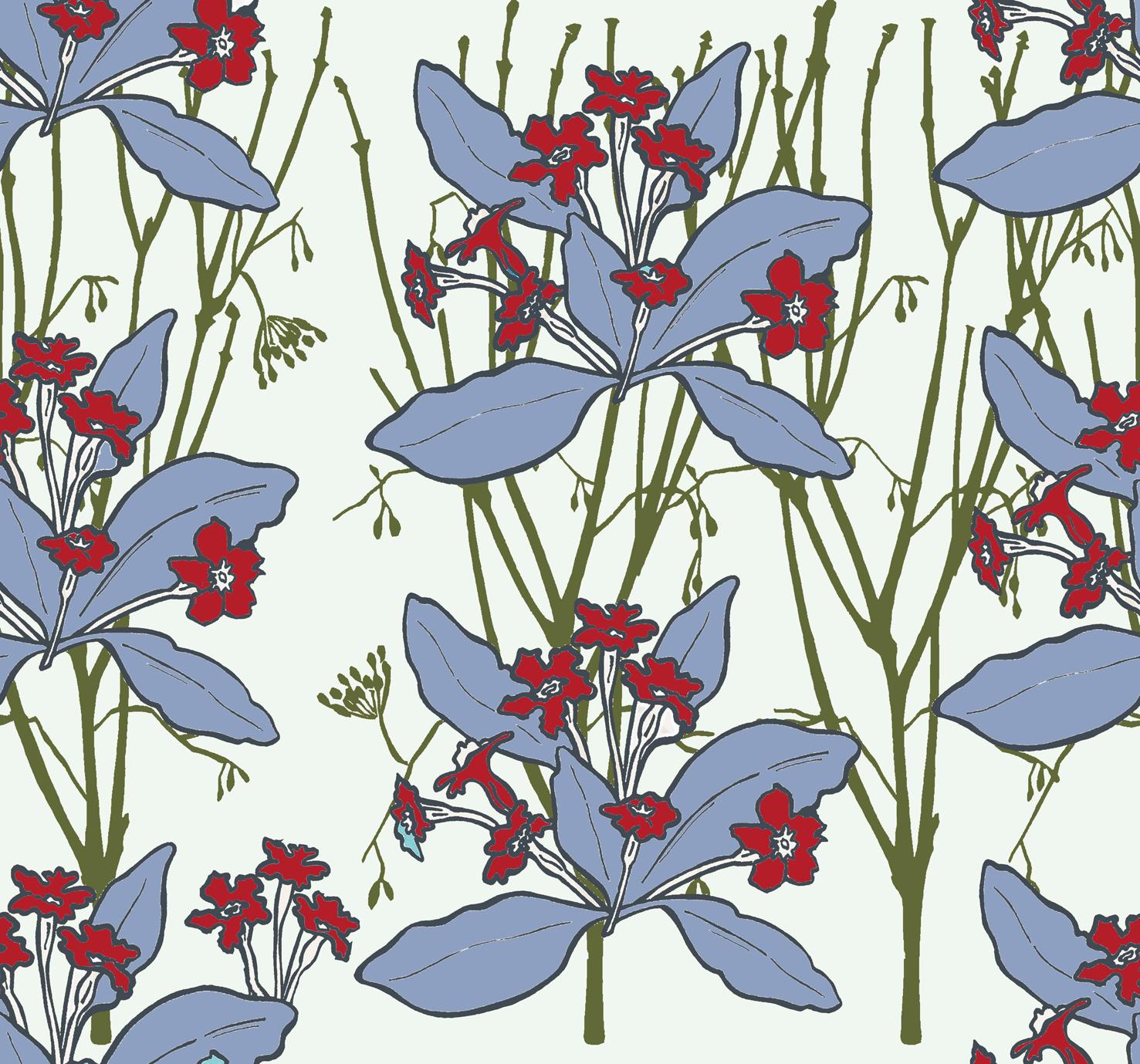 Primrose design red