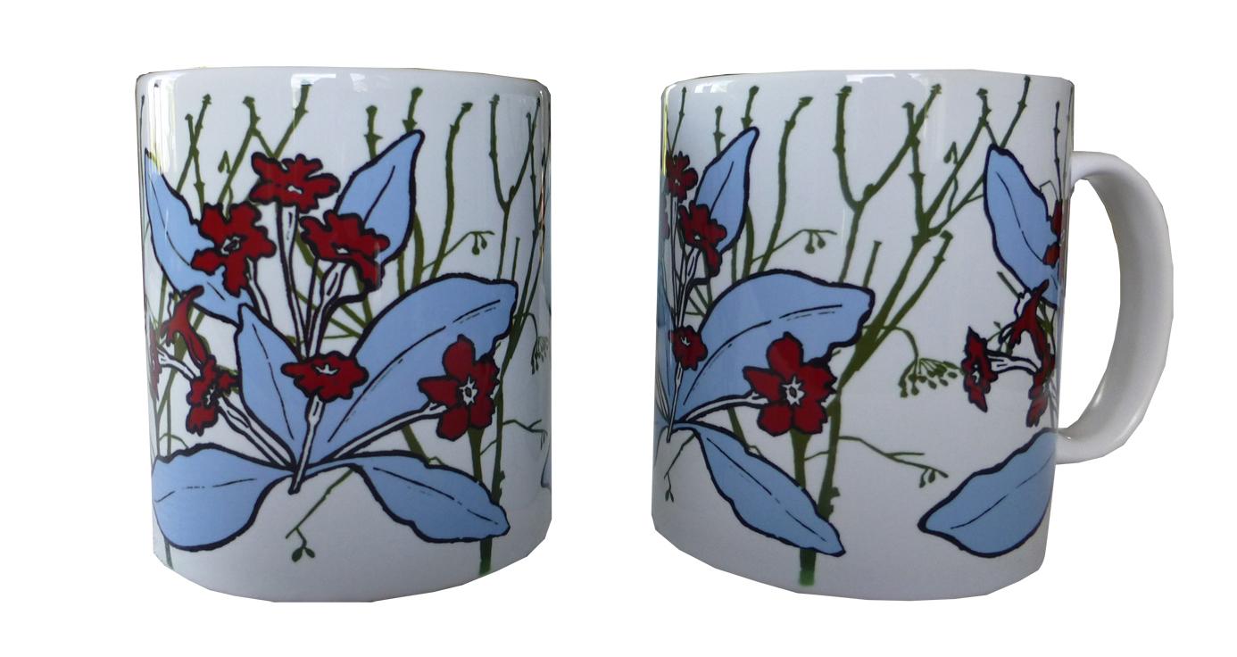 Mugs in primrose design