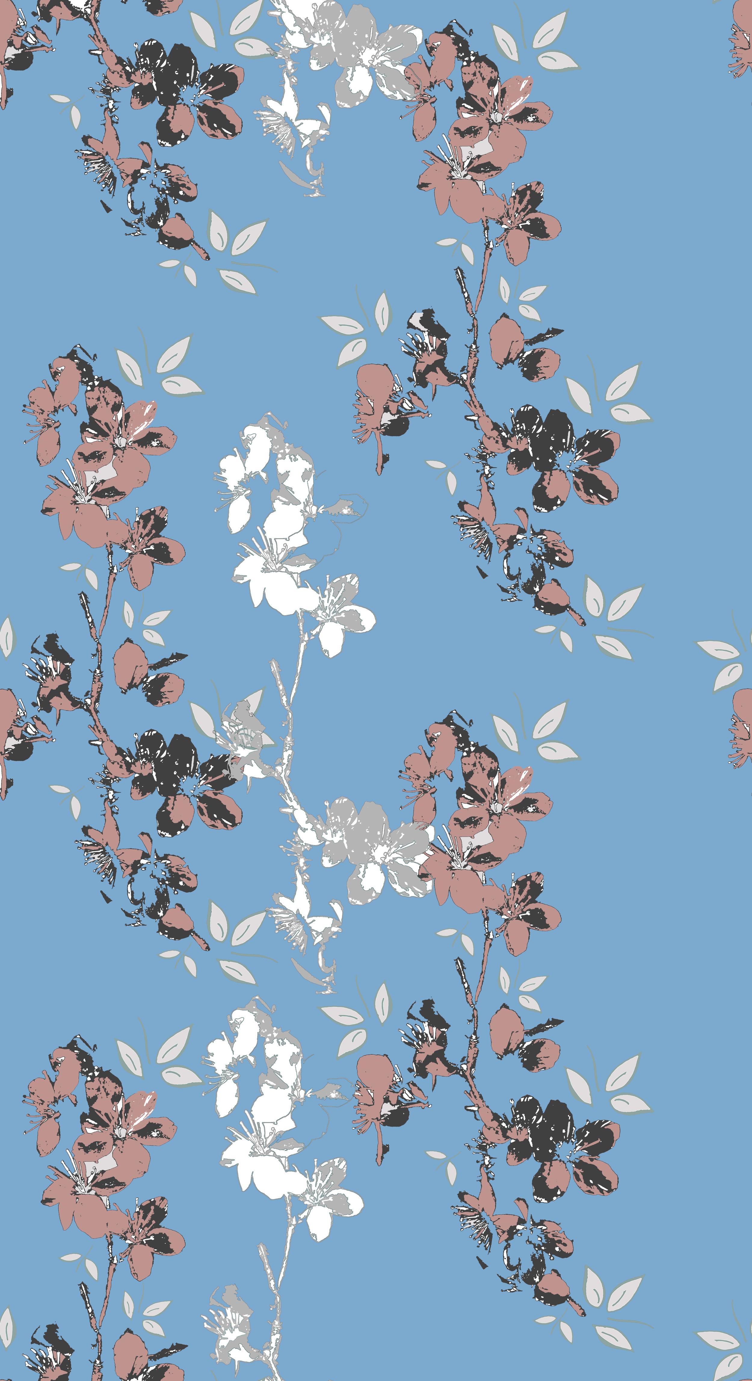 Blossom design blue