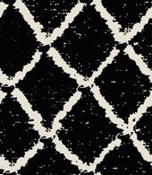 Emboidery trellis pattern black