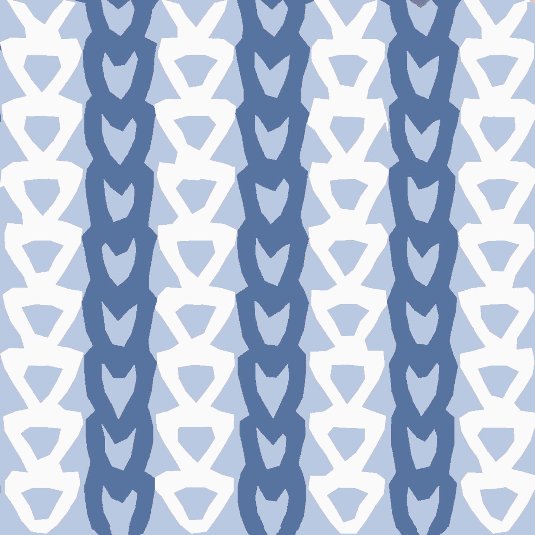tile design Knit blue