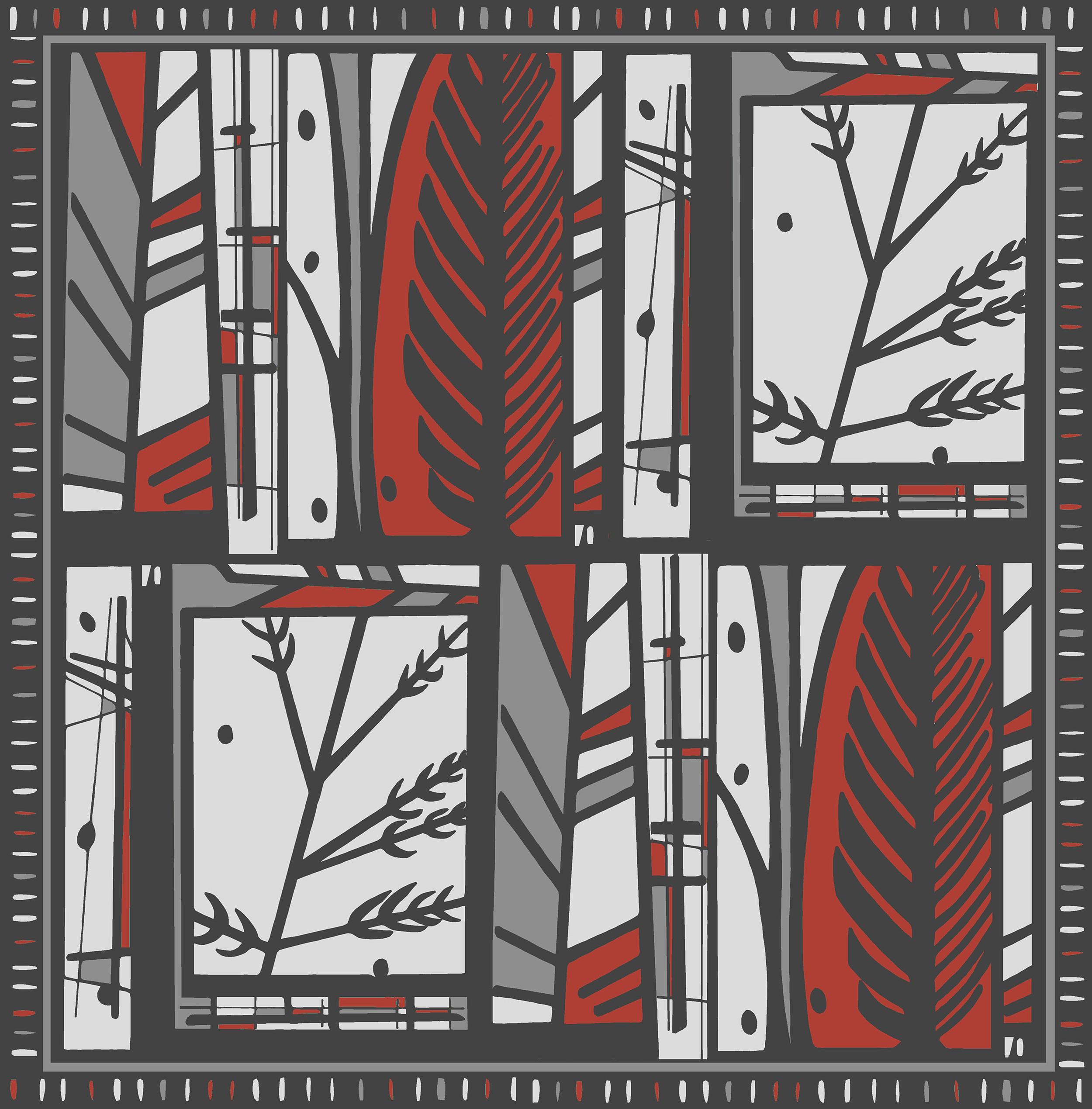 Forest design red