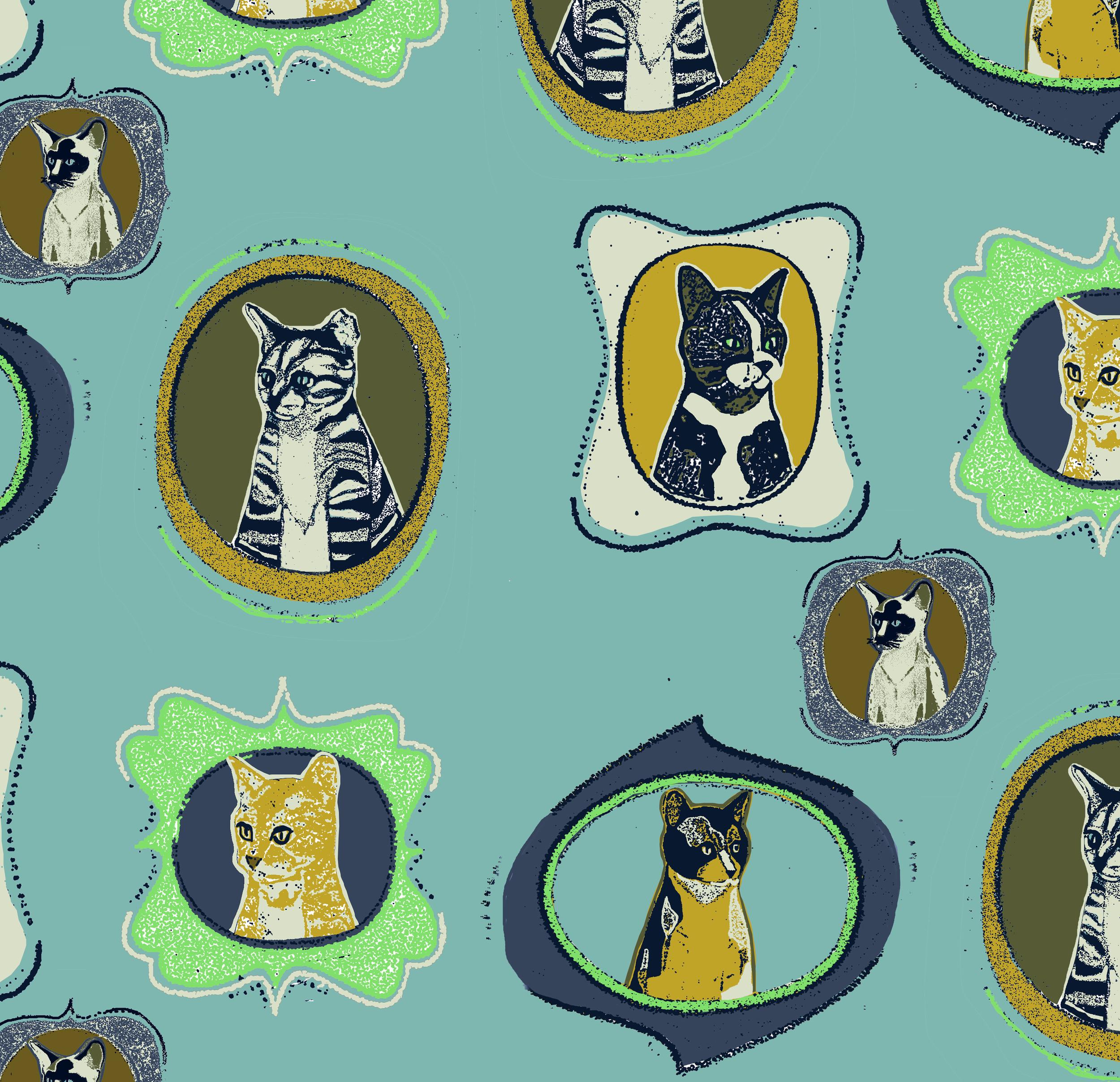 Retro Cats design