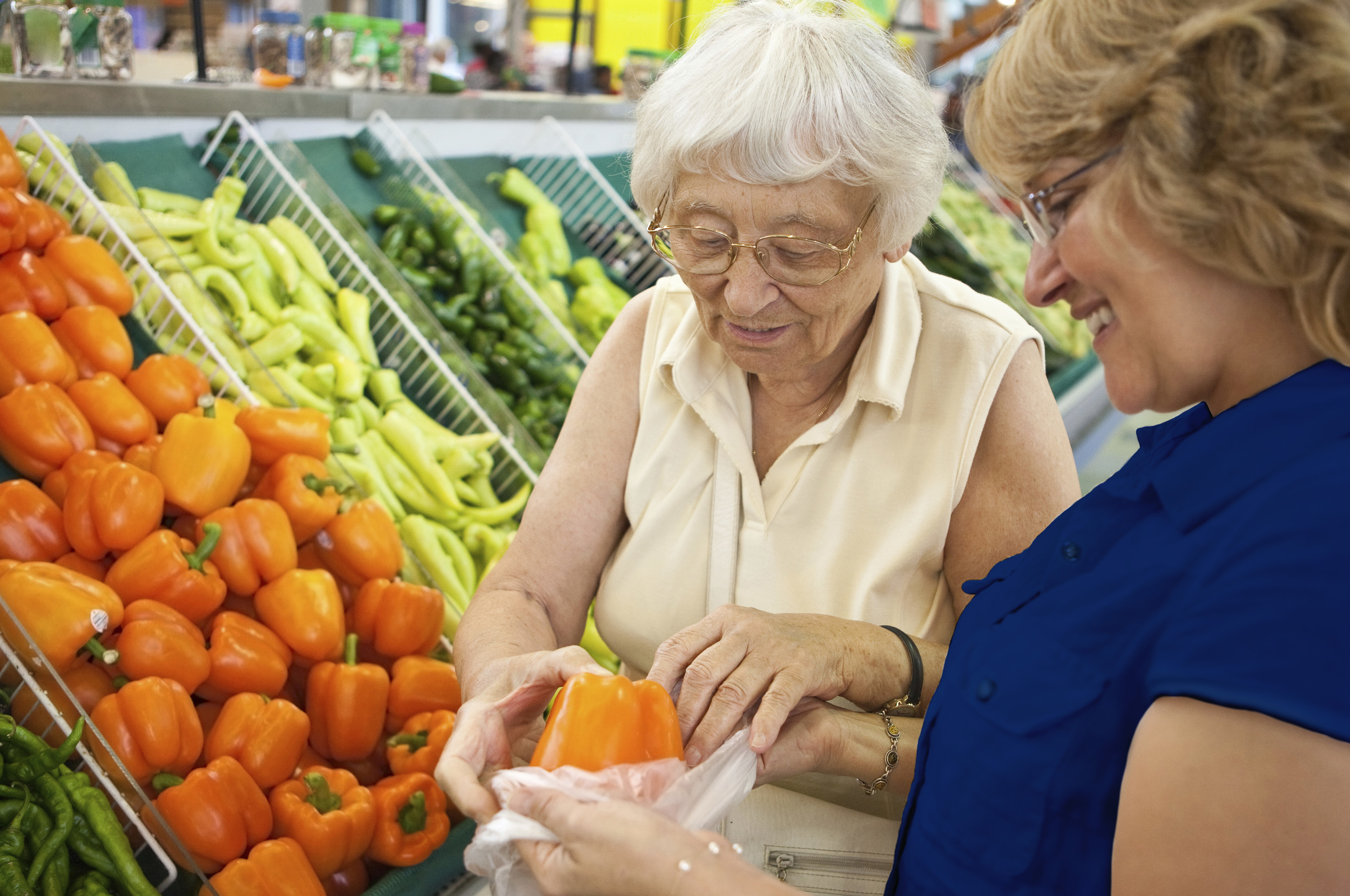 Assurance Home Care Nurse grovery shopping with patient