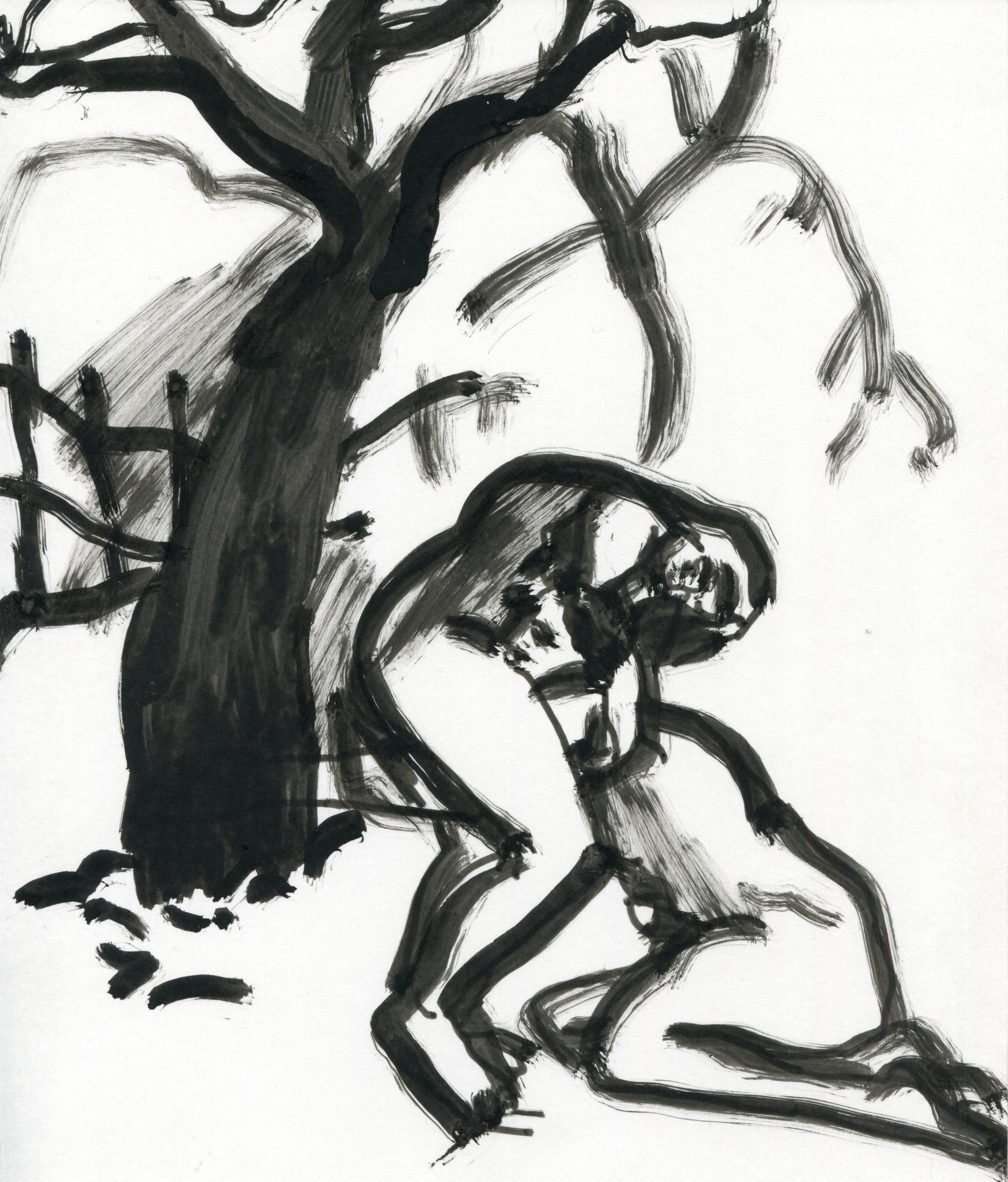 Venus As A Boy   Ink on paper  25 x 21 cm