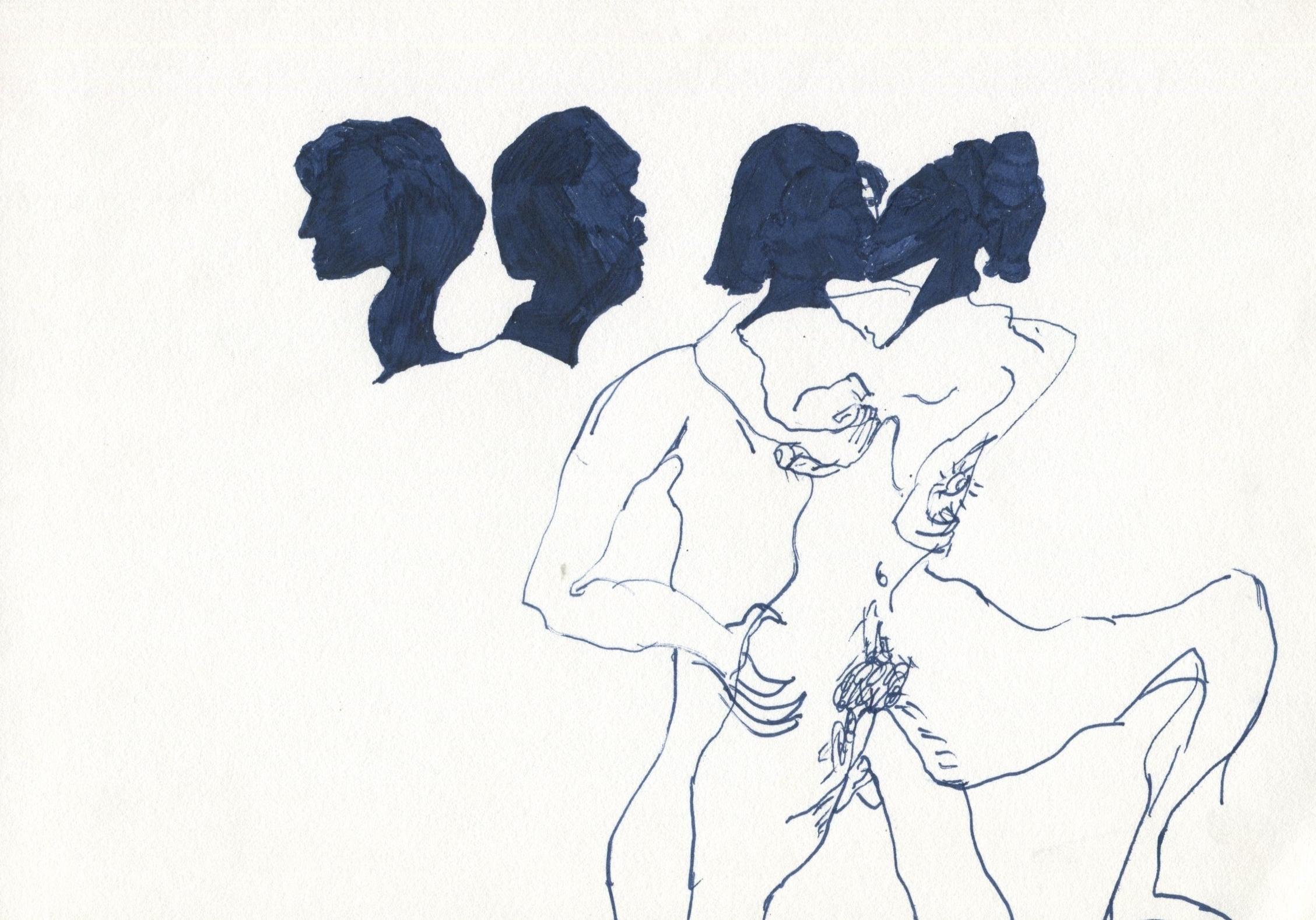 Midnight Animals   Pen on paper  20 x 30 cm