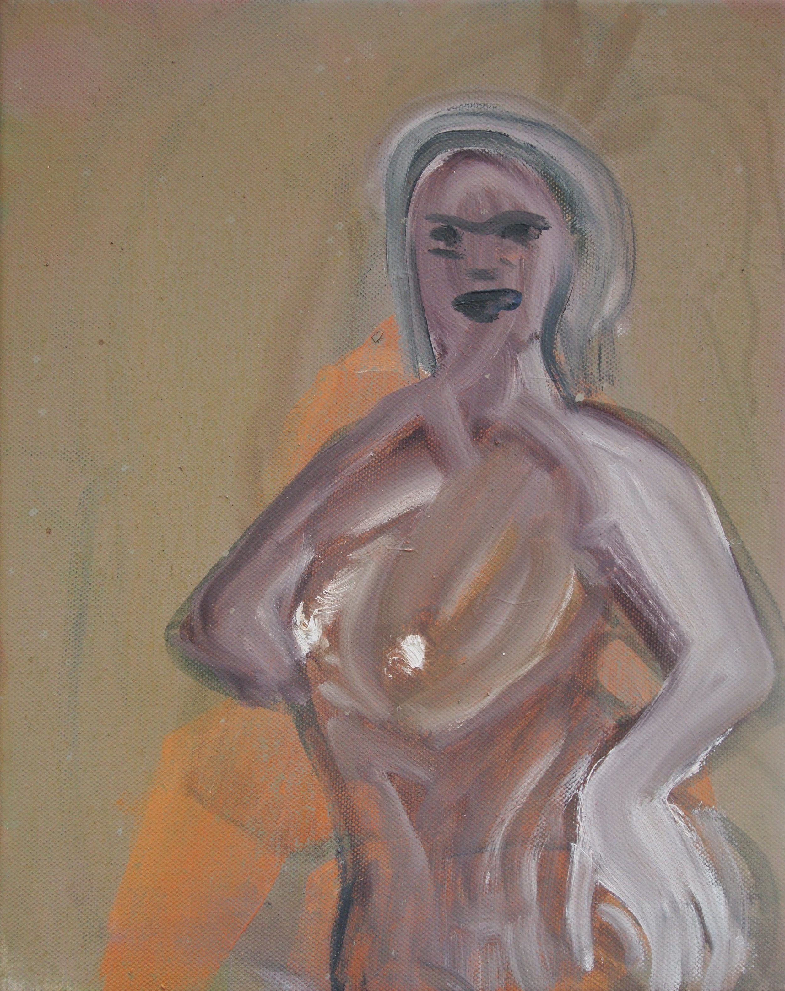 Get Ur Freak On   Oil on canvas  35 x 27.5 cm